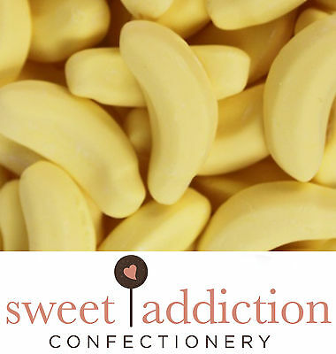 250g Bananas - Bulk Bag Birthday Yellow Candy Buffet Lollies - Sweet Addiction