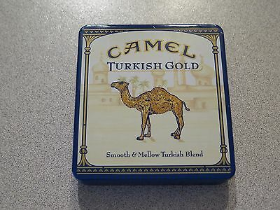Camel RARE Collectors TIN for Cigarettes; Turkish Gold Design (empty)