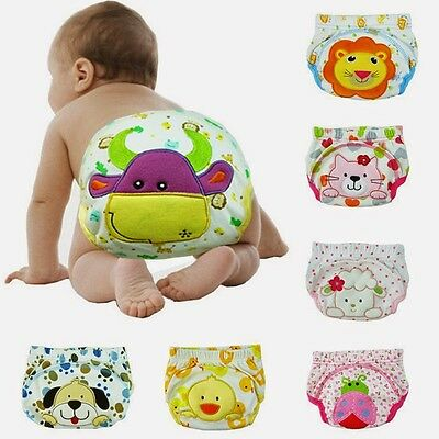 Pure Cotton Baby Cloth Diapers Infant Toddler Pee Potty Training Pants Underwear
