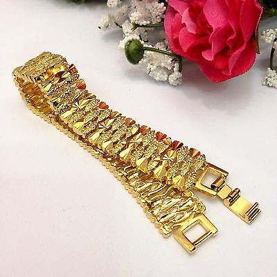"Indian Jewellery 22ct Gold Plated Ladies Bracelet Length (7.5""Inches)"