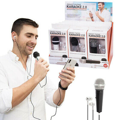 SMART PHONE KARAOKE - Microphone & Earpods Sing Along / Record **FREE DELIVERY**