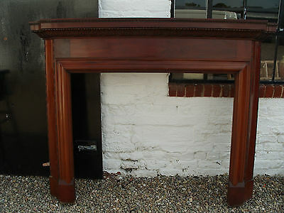 Solid Mahogany Vintage 1920's / 1930's Carved Fire Surround/Bolection Moulding