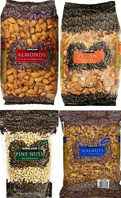 Kirkland Signature NUTS: ALMONDS, WALNUT, PINENUTS, or PECAN
