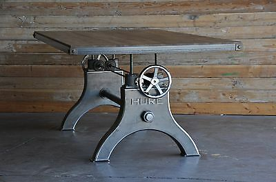 Vintage Industrial Hure Crank Dining Table