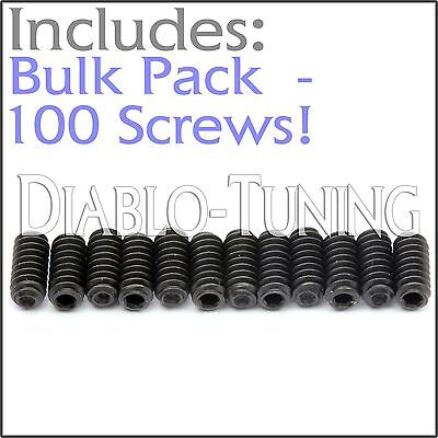 "BULK PACK QTY 100 - 4-40 x 1/4"" Saddle Bridge Height Screws Fender Stratocaster"
