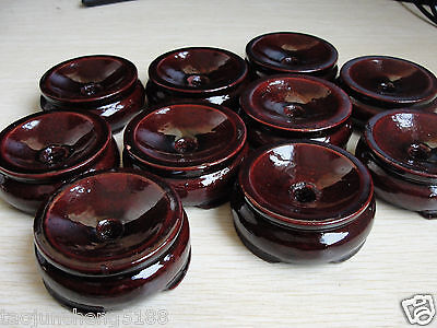 4Pcs Patina Wood tower Stand pedestal Holding CRYSTAL Sphere AAAA