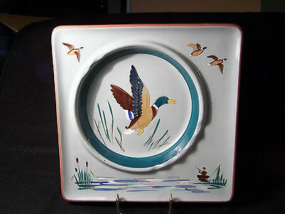 1950's Stangl square Duck Hunter Ashtray/Ash Tray