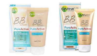 Garnier Pure Active BB Cream All-In-One Anti-Imperfections  SPF15 Choose Shade