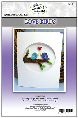 Quilled Creations Quill-A-Card Kit - Love Birds