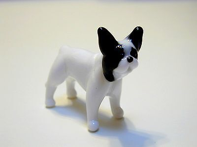 French Bulldog - Hand Made Art Glass Dog Breeds miniature figurines