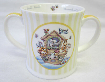 Noah's Ark Bone China Double Handled Mug Keepsake in Gift Box Great Baby Gift