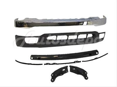 For TACOMA 01-04 FRONT BUMPER FACE BAR CHROME OUT CENTER REINFORCE BRACKET 6PC