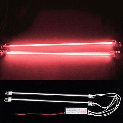 "RED 2*12""  Undercar Vehicle Car CCFL Cold Cathode Neon DC 12V Tube Light Lamp"