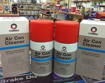 2 x COMMA  AIR CON CLEANER -BOMB STYLE ELIMINATES BACTERIA SMELL & ODOURS