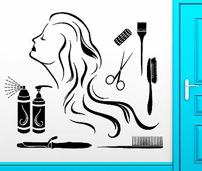 Wall Sticker Vinyl Decal Hair Spa Beauty Salon Barbershop Cool Decor (z2467)
