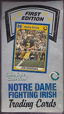First Edition Factory Sealed Box of Notre Dame Fighting Irish Trading Cards