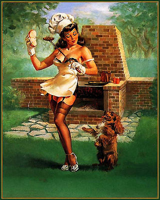 Kitchen PUB BAR PIN UP GIRL SHABBY CHIC  Retro ENAMEL METAL TIN SIGN WALL PLAQUE