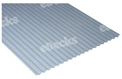 0.8mm Translucent Mini Plastic Corrugated Roofing Sheet, 662 wide, Corolux