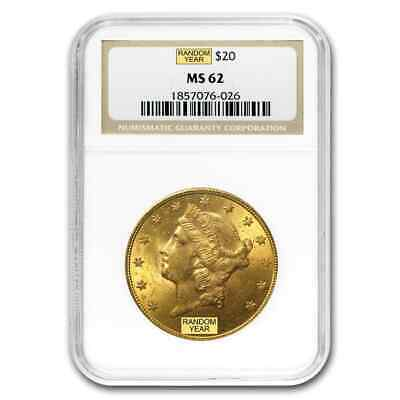 $20 Liberty Gold Double Eagle MS-62 NGC (Random) - SKU #120