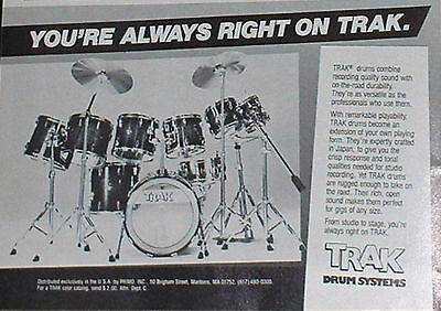1984 TRAK drum systems crafted in Japan photo print Ad