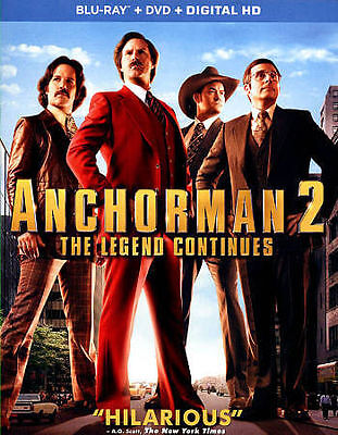 Anchorman 2: The Legend Continues (Blu-ray/DVD, 2014, 2-Disc Set, Includes...