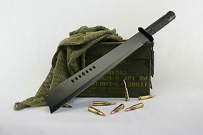 Brand New Tactical Ninja Machete Sword / Hunting Knife W/sheath