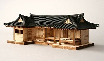 "[ 3D PUZZLE ] YOUNGMODELER Wooden Model Kit ""Tile-roofed house"" / YG610"