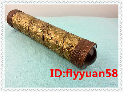 Most Worthy Chinese Antique Brass carved Kaleidoscopes 004