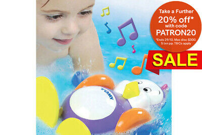 Tomy Baby Kids toddler Splashy the Penguin Bath time water Swim Floating Toy Fun