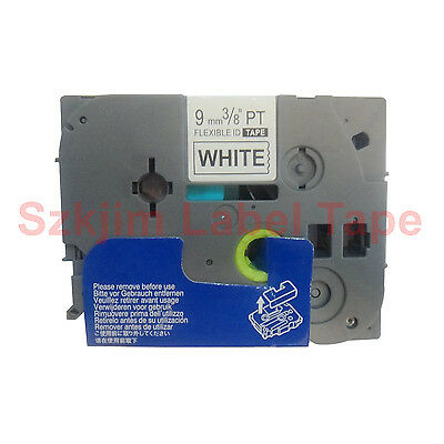 TZ-FX221 Flexible Black on White 9mm Label Tape Compatible for Brother TZe-FX221