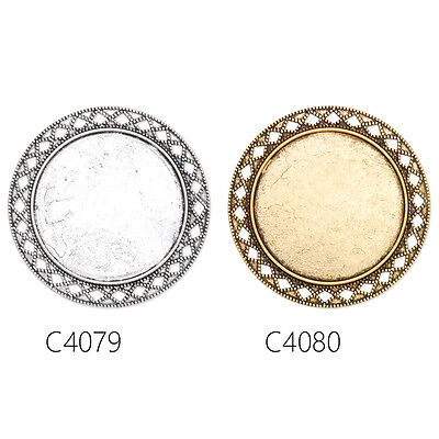 Top Quality Oval Shallow Bezel Brooch Pin Blank Bases Safety Brooch 10Pcs