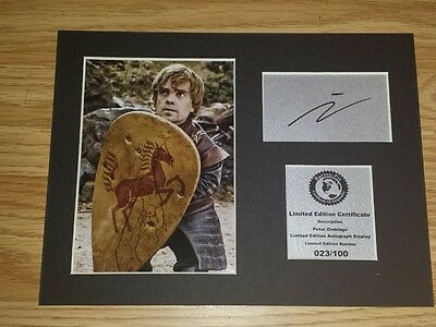 Peter Dinklage ( Tyrion - Game Of Thrones ) Signed Autograph Display Mount PD2