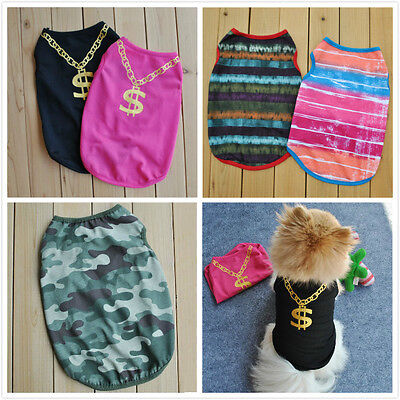 New Various Pet Puppy Small Dog Cat Pet T Shirt Apparel Camouflage Pink Clothes
