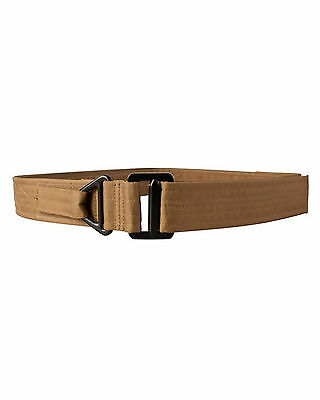 Kombat UK Tactical Coyote Rigger Canvas Belt One Size Fits 30-38 inch waists.