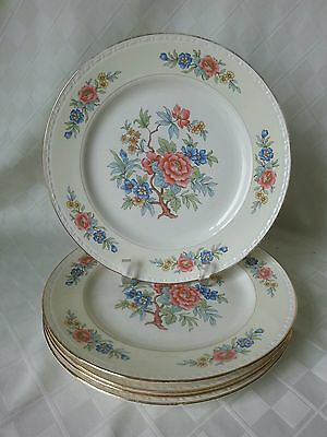 """Vintage HOMER LAUGHLIN  9-3/4"""" Dinner Plates """"BOMBAY"""" Pattern 5 AVAILABLE Pretty"""