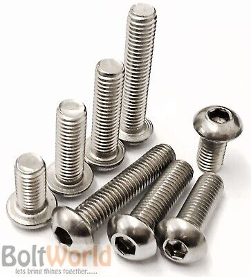 M3 M4 M5 M6 M8 A2 Stainless Steel Socket Button / Dome Head Allen Screw Bolts