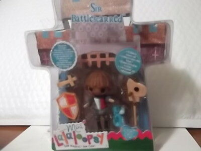 LALALOOPSY MINI DOLL SIR BATTLESCARRED WITH PET DRAGON BRAND NEW RETIRED HTF