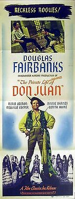 PRIVATE LIFE OF DON JUAN 1934 Douglas Fairbanks Merle Oberon US INSERT POSTER