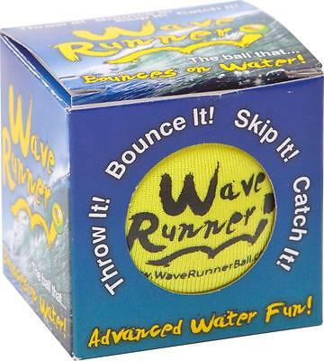 """Wave Runner 360376 Water Ball """"Beach"""" Bounces on Water Beach/Pool Toy Yellow New"""