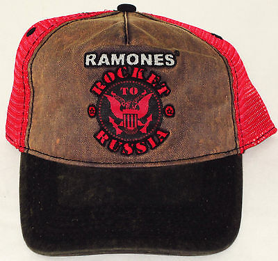 "RAMONES, The TRUCKER HAT/CAP ""Rocket To Russia"" Distressed Licensed NEW"