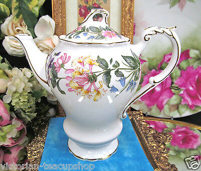 PARAGON STUNNING FLORAL  TEAPOT FOR 2 EMBOSSED AND PRETTY TEA POT