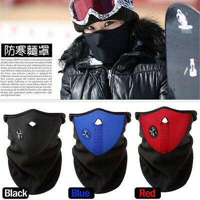 Cagoule Masque Facial Tour De Cou Neoprene Polaire Paintball Moto Velo Ski Snow