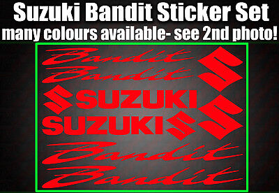 Bandit Stickers GSF 400 600 750 1200 1250 Decals ALL COLOURS suzuki non oem