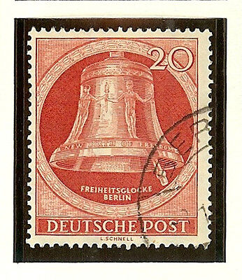Germany Berlin 1951-2 Freedom Bell #9N77 Vf/xf Used Increasing Catalog Value