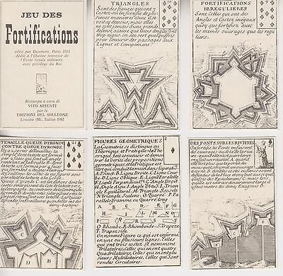 FORTIFICATIONS PLAYING CARDS-ALL DIFFERENT-1763 REPRINT