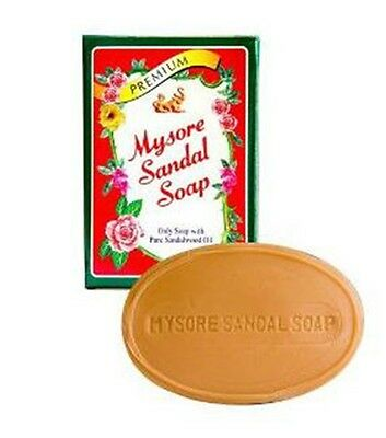 Mysore Sandalwood Soap 75g - 1 -10 Bars Sandalwood Oil  Ayurvedic