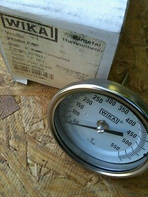 "New Wika 3"" Back Connected Bimetal Thermometer 50/550ºF&c  2.5"" Stem"