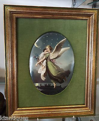 "ANTIQUE KPM PORCELAIN PLAQUE , ""NIGHT"""