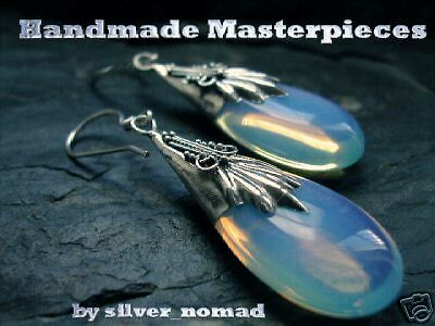 New 925 Sterling Silver Ladies Moonstone Drop Earrings