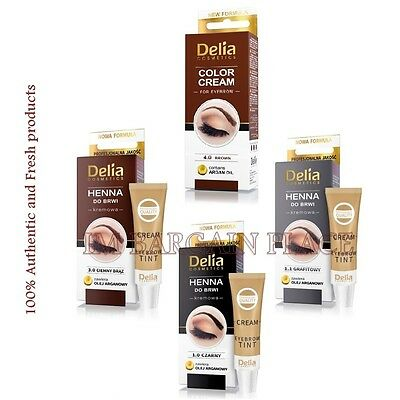 DELIA - HENNA Professional Color Cream EYEBROWS EYELASHES  tint KIT SET